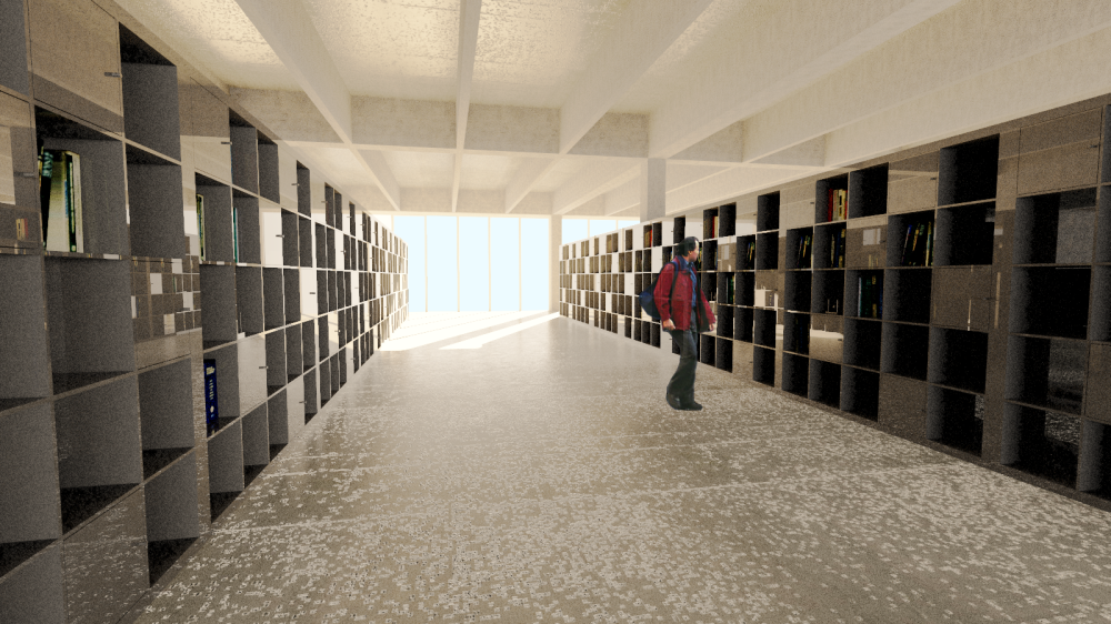 Interior Perspective _Library